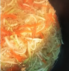 Chicken Zoodle Soup!