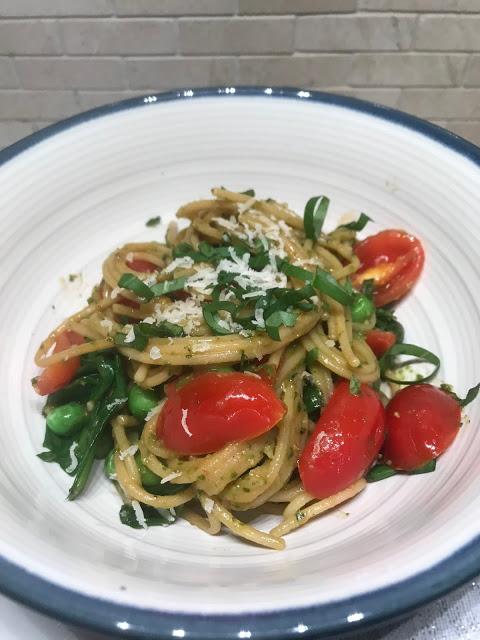 Chickpea Spaghetti Veggie Dish