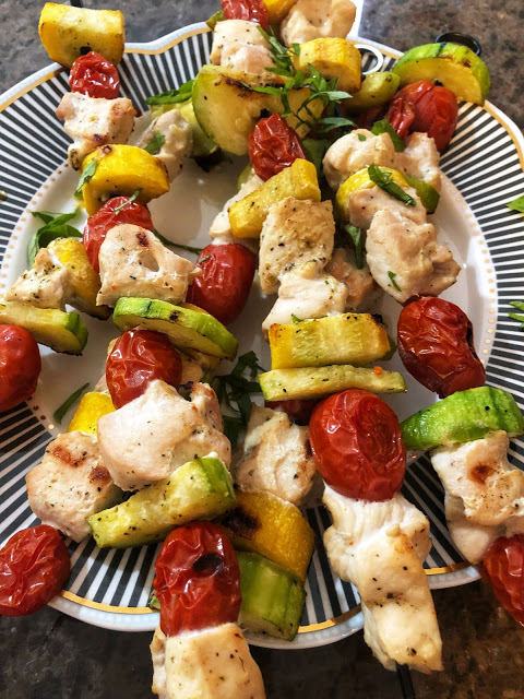 Grilled Veggie Chicken Kabobs