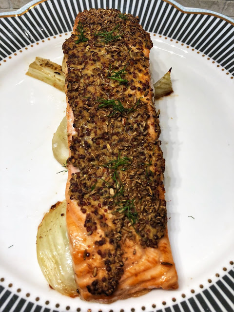 Mustard Fennel Crusted Salmon