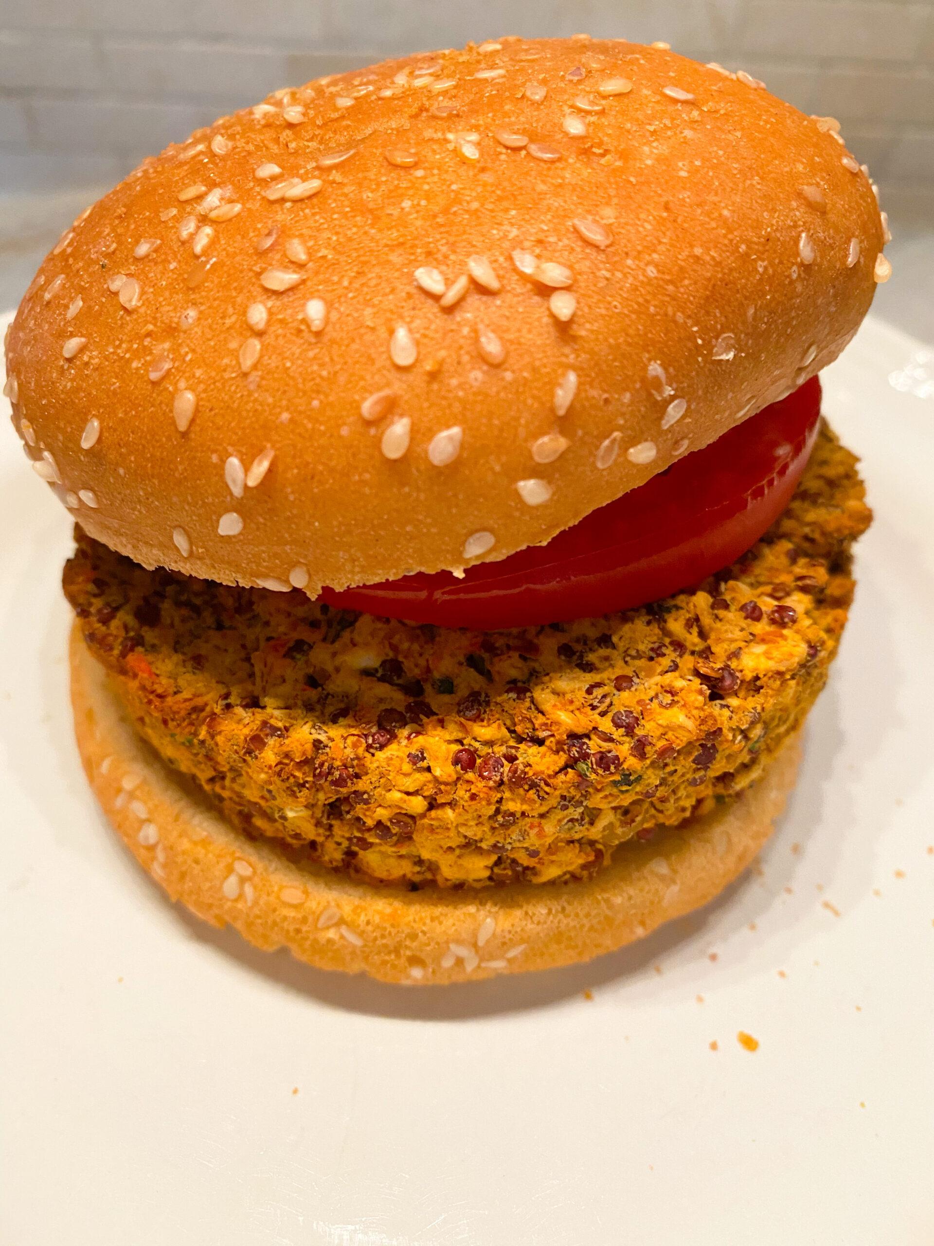 Quinoa & Chickpea Burger