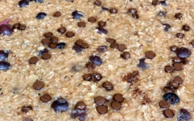 Protein Blueberry Oatmeal Bake