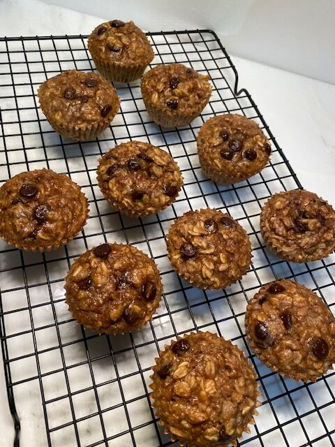 Peanut Butter Baked Oatmeal Muffins