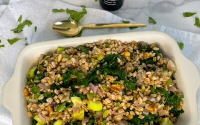 Farro Salad with Spinach & Walnuts